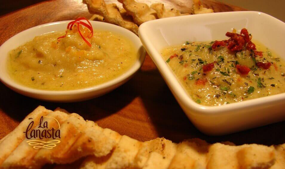 Hummus y Tostaditas de Pan